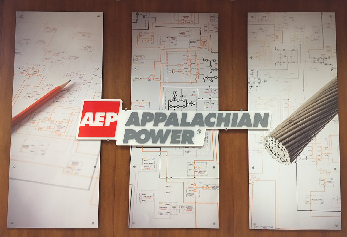 Appalachian Electric Power AEP Roanoke new conference interior panel design