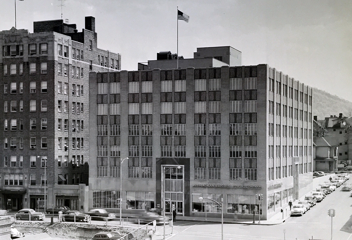 Appalachian Electric power AEP Roanoke exterior 1939
