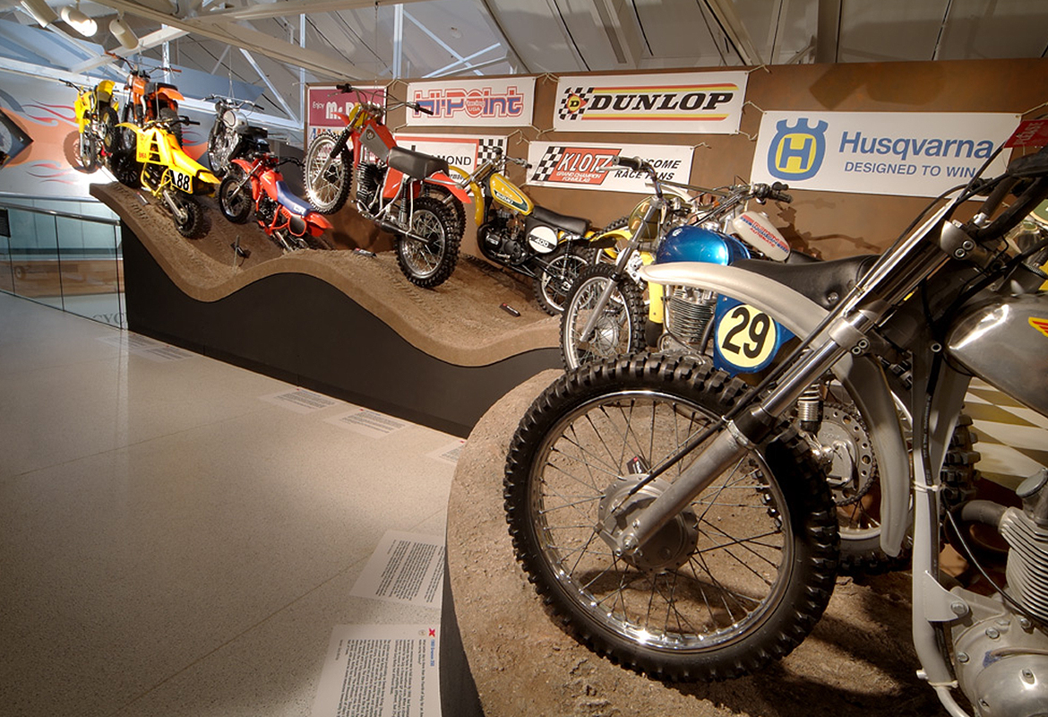Motorcycle Hall of Fame Museum Motocross America fake mud tracks